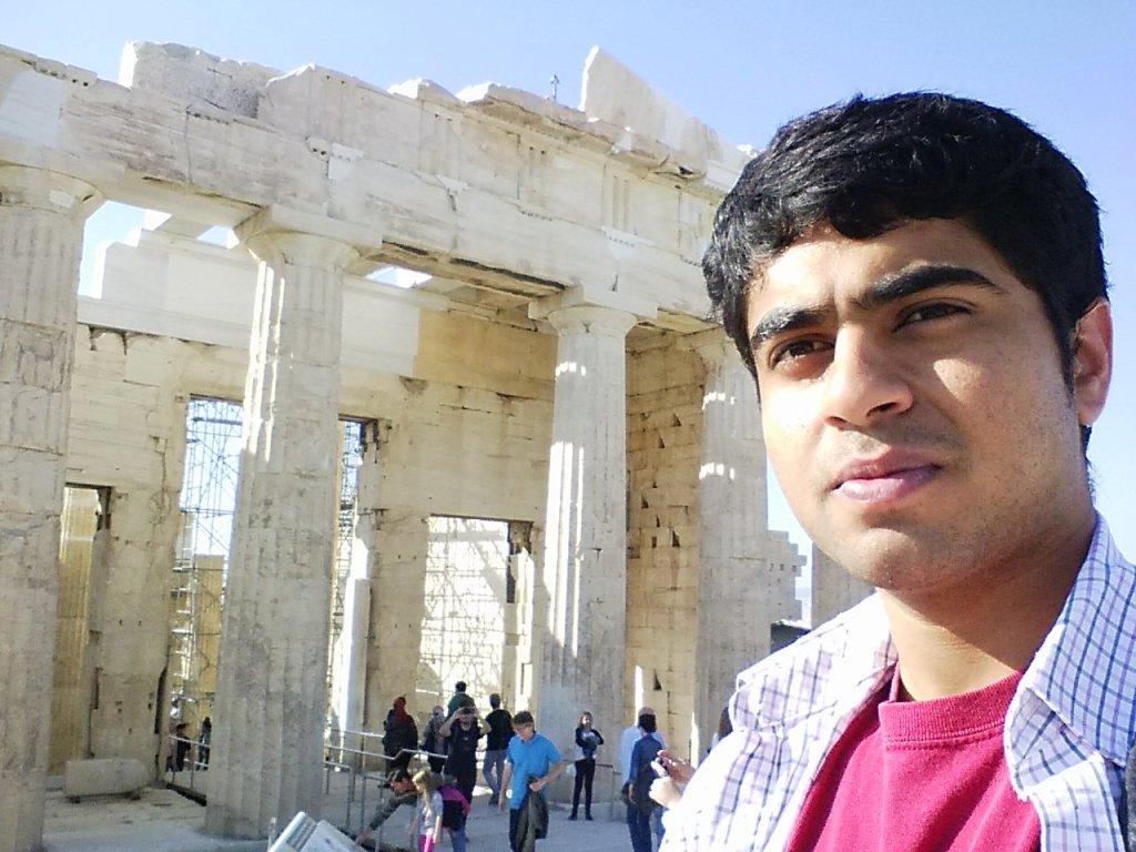 Gobi at Parthenon, temple of Athena