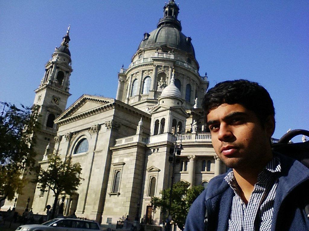 Gobi at St. Stephen's Basilica in Hungary