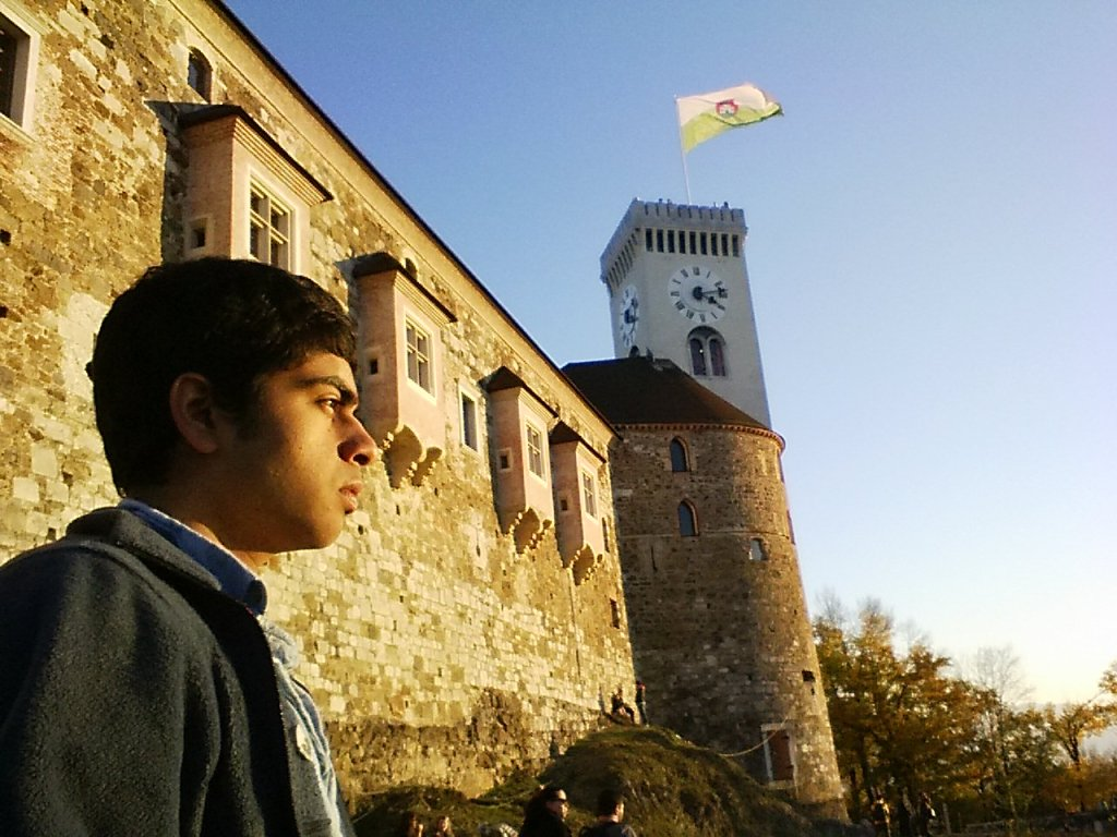 Gobi climbed up to the top of the hill where he found the Ljubljana Castle