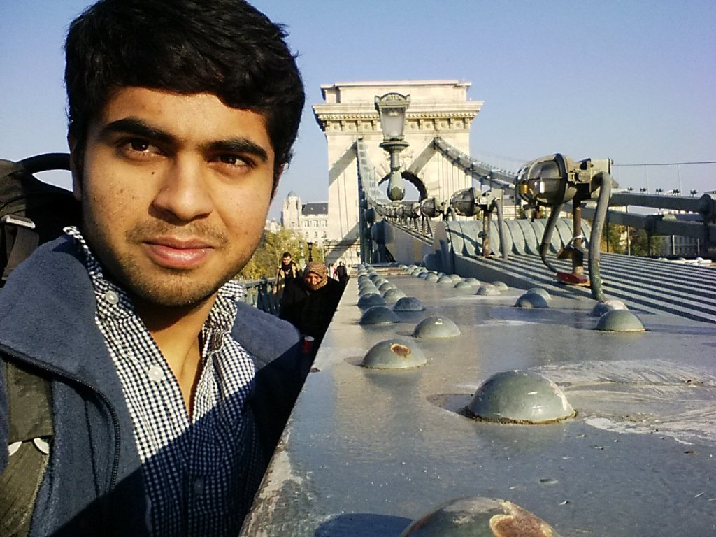 Gobi Dasu at the Chain Bridge in Budapest - see how the people are dressed in a way that is between European and Turkish