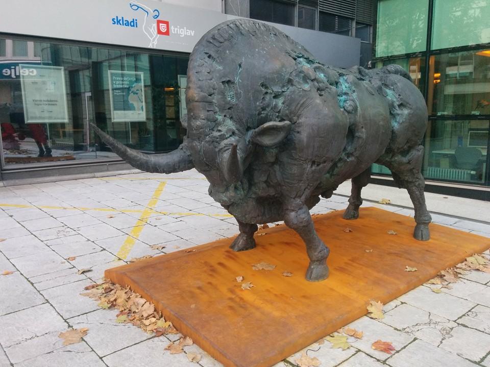 Gobi Dasu at the Slovenian Stock Exchange Bull in Ljubljana